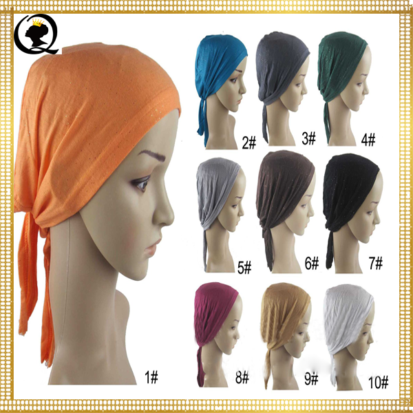 Beautiful Sexy Muslim Girls/Women/Girls Back Tie Under Scarf Hat Jersey Cup New Design