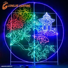 3.0m perfect conjugal bliss rope light motif wall lighted