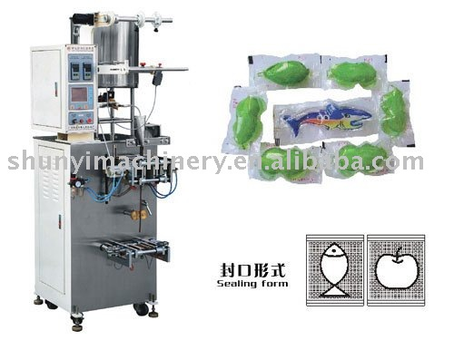 Sachet forming filling sealing machine