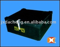Black Fluted PP Plastic Packaging Box