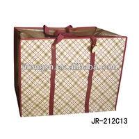 Fashion design travel pp woven shopping bag in Large Size