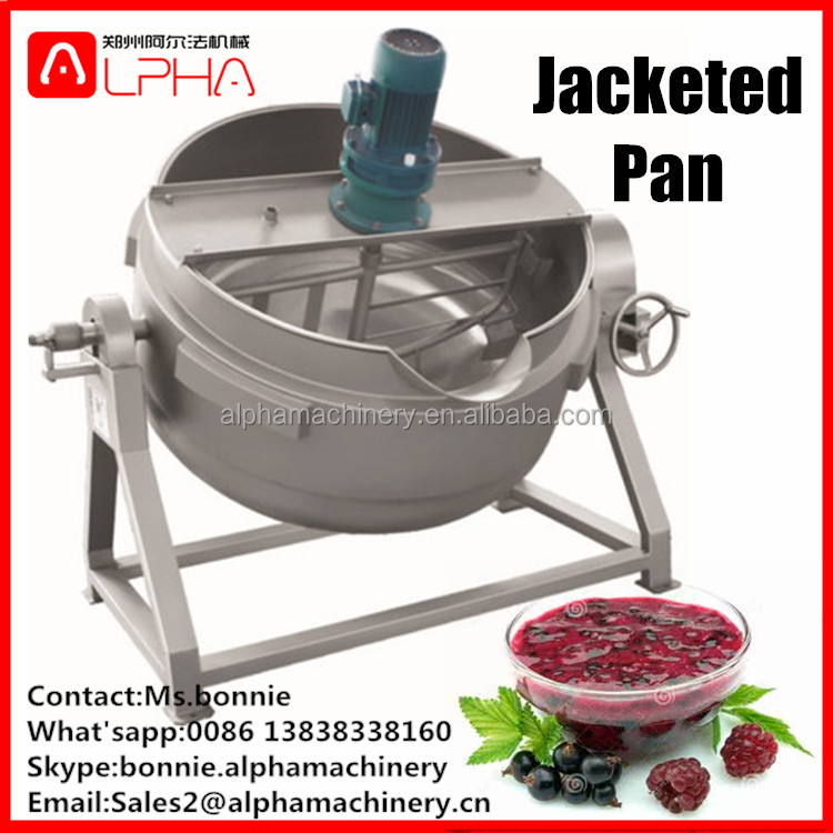 Steam Electric Gas Heating Double Jacket Kettle with Agitator Mixer Cooker Inner Pot