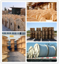 High Quality Wooden Cable Reel With Kraft paper Tube