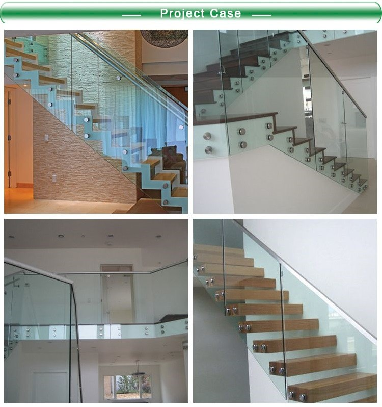 Frameless glass standoffs fittings for glass stair hardware