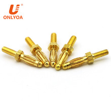 Onlyoa custom gold plated male banana plug electric cable connector with M2.5 thread