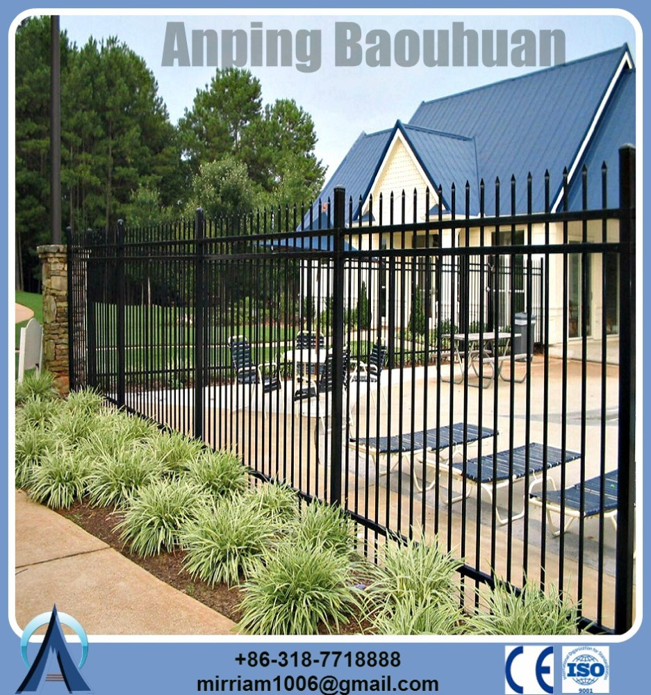 Hot-dip galvanized material 1800 mm*2400 mm Black assembling Steel Fence