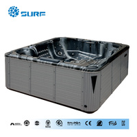 50% discount Chinese sanitary ware america balboa control system Christmas bath spa bubble massage hot tub outdoor spa