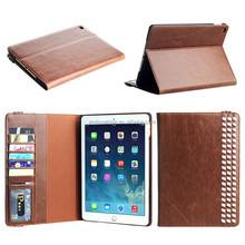 Fashion design wholesale pu leather tablet case with hand holder for ipad