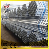 hot dipped galvanized round tube ,pre-galvanized round steel pipe ,GI pipe 48.3mm