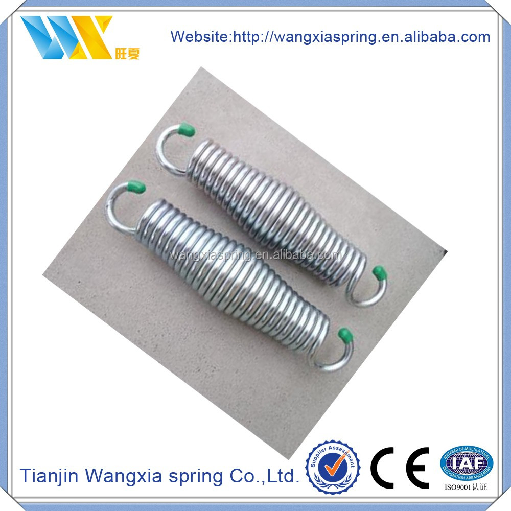 High carbon steel made single long hook retainer extension springs