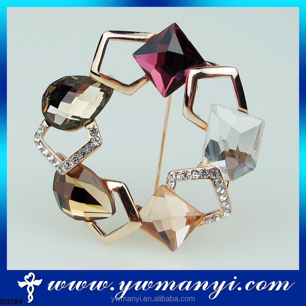 Alibaba express hot sale rhinestone jewelry custom pageant brooches frames B0284