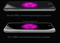 100% fully covered Ultra Thin Anti-scratch Clear Explosion Proof / Bubble Free Tempered Glass Screen protection for iPhone 6