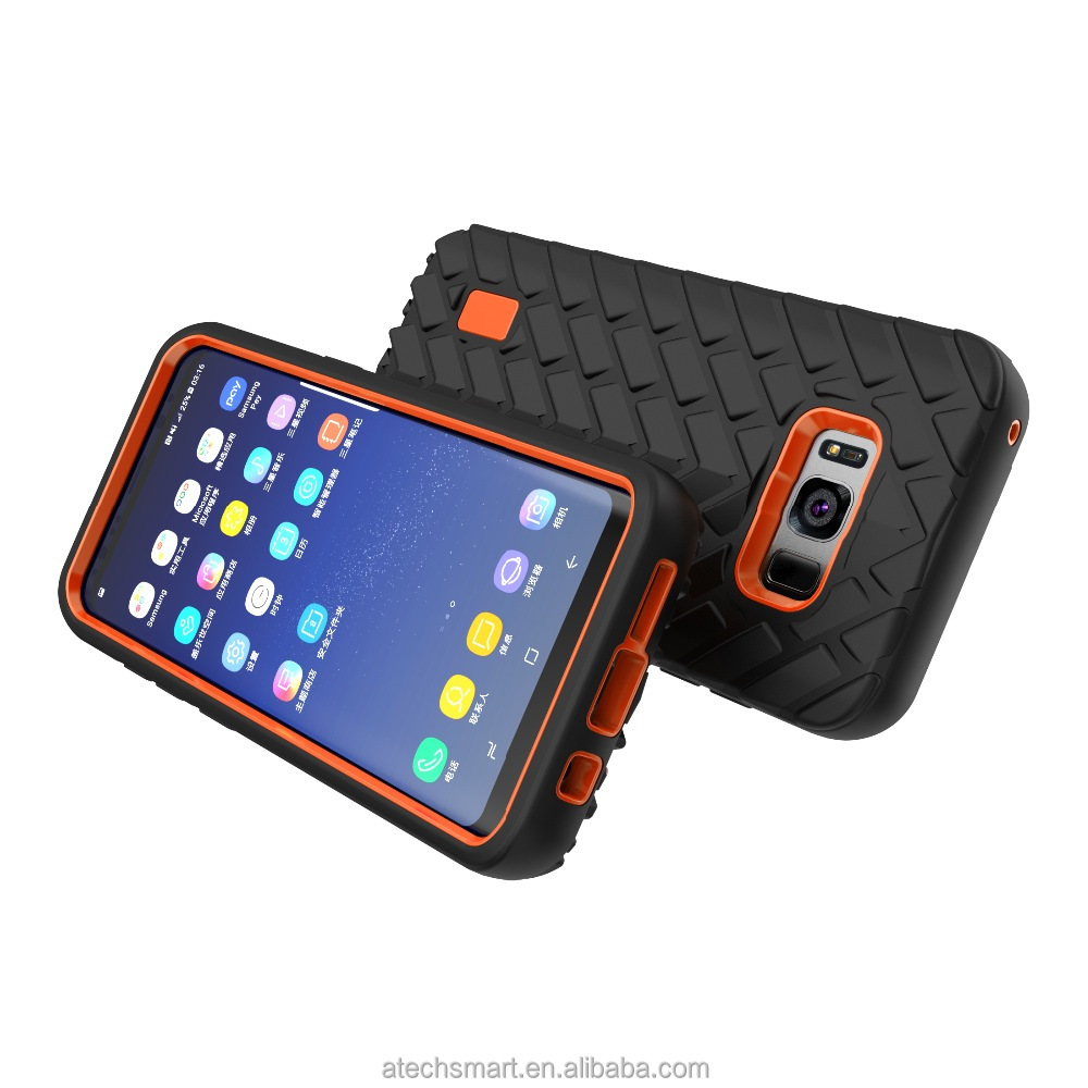 Hot sale Silicon PC tough rugged protective case cover for Samsung Galaxy S8 S8 plus