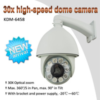 Auto tracking high-speed dome cctv ptz camera, 30X Optical zoom, 10X Digital zoom