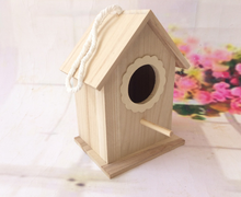 Wood preservative decorative bird cage Nest outdoor decorations sparrow wooden house