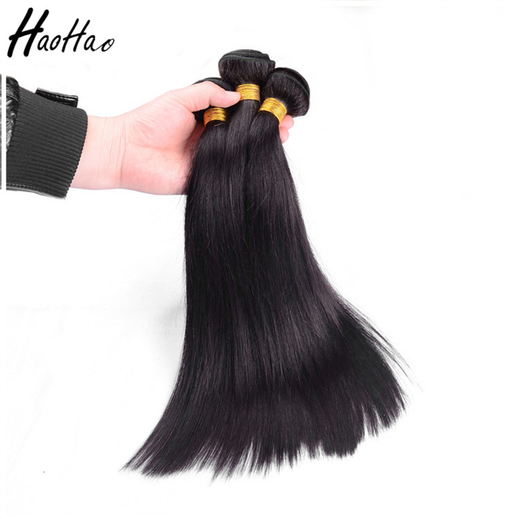 Large Stock Natural Color Straight Brazilian Virgin Human Hair Manufacturers In China