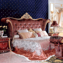 King bedroom set furniture Antique bedroom furniture set Italian style carved bedroom set MBK-9838