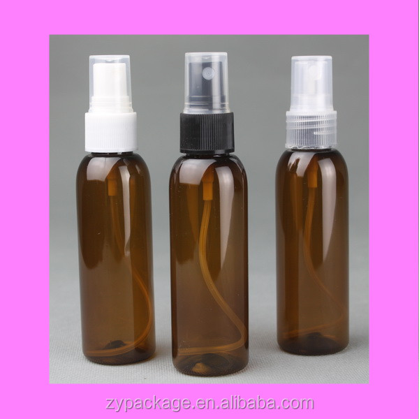 2 oz spray bottles 60 ml amber plastic bottle with fine mist sprayer