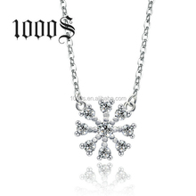 925 silver edelweiss charm chain necklace