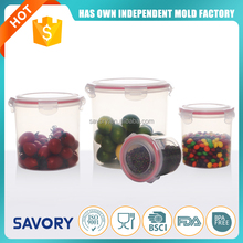 High Quality Rectangle Fashion Tableware Food Grade plastic jar food container