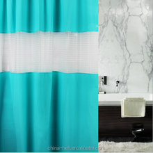 PEVA shower curtain with splice window