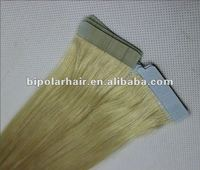 High quality blonde color european hair extensions tape method