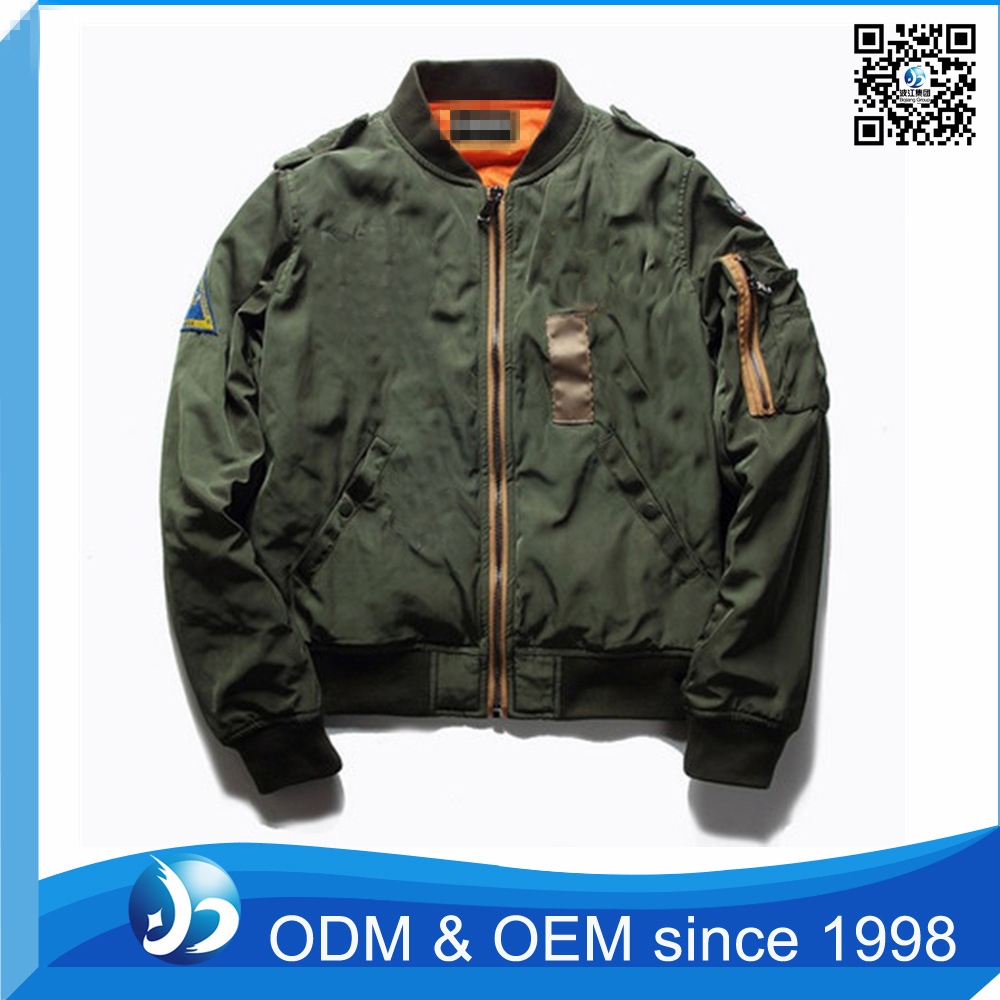 Custom Men's Embroidered Baseball Bomber Polyester Jacket
