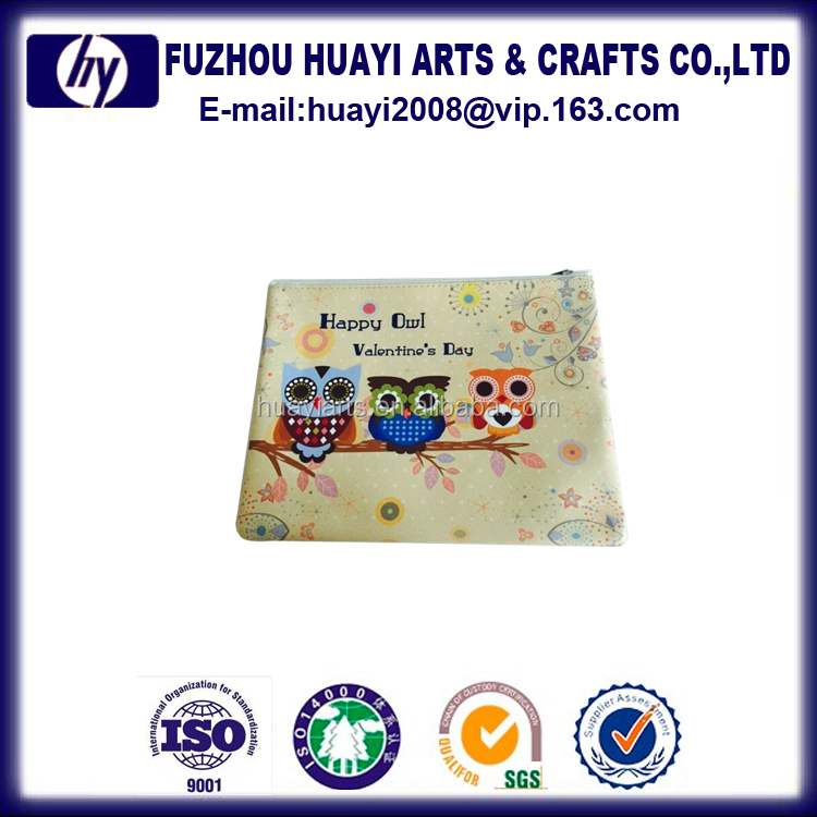 Low cost wholesale squeeze pouch coin bag for promotion cotton zipper pouch