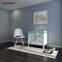 wholesale antique bathroom vanity cabinet with Acrylic wash basin counter tops