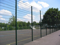 PVC coated welded wire mesh fencing/home garden security fence supplier