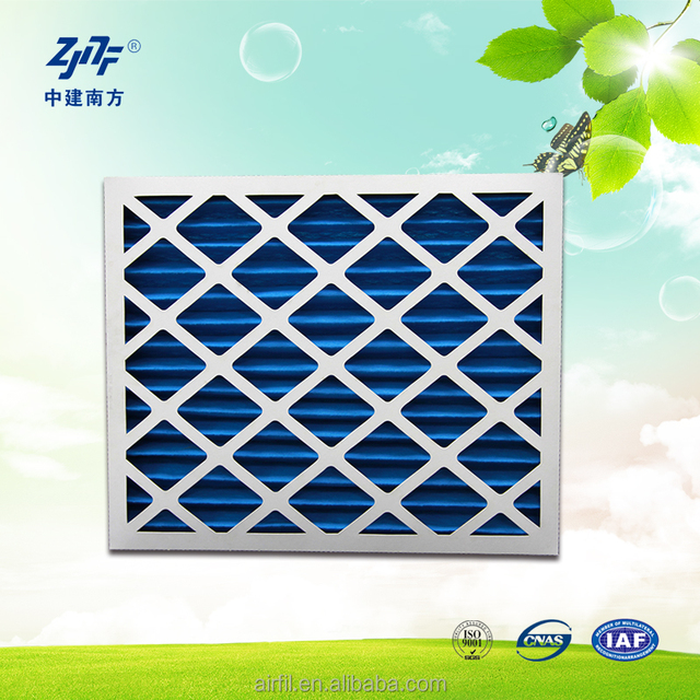 Disposable G4 Panel Air Filters With Cardboard Frame and metal mesh face net