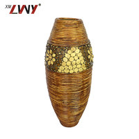 Coloured Painting Designs Plant Pots Rattan Flower Pot