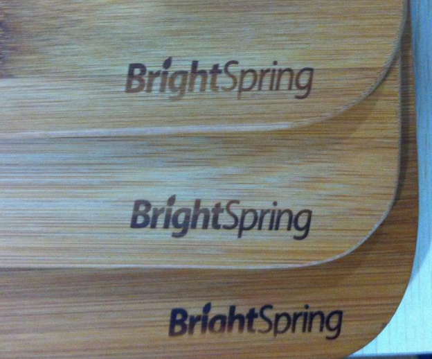 bamboo wood customized laser logo