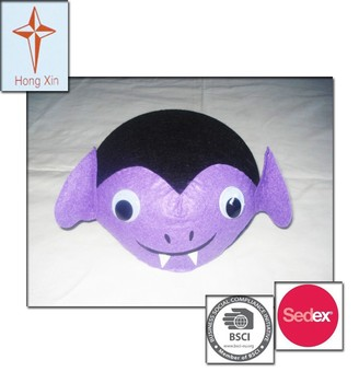 2015 Cute Animal Bat Shape Party Hats and Felt Hats for Children