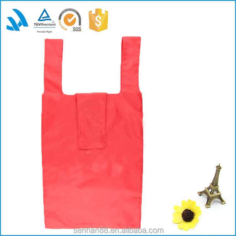 2016 New products promotion foldable nylon shopping bag with logo