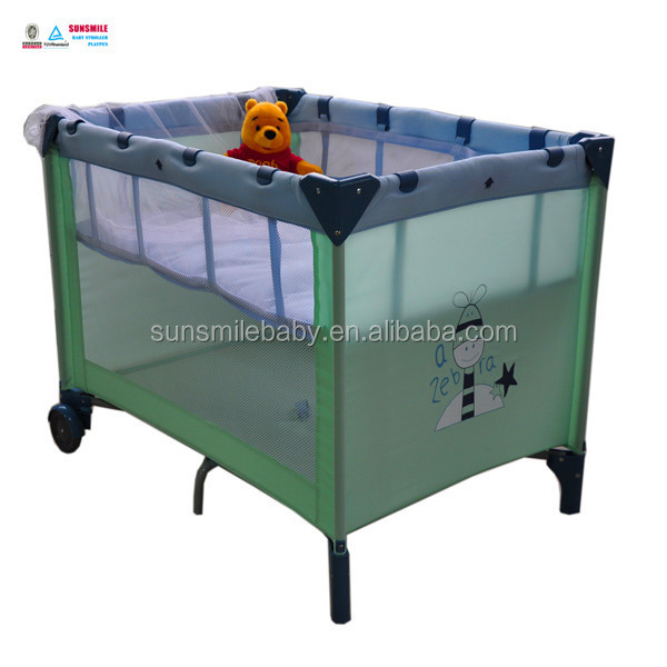 2014Cute Christmas Animal Swinging Baby Crib and Mesh Fabric for Playpen