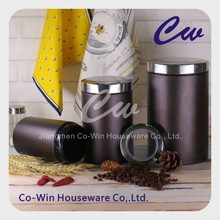 Metal Storage Box Galvanized Steel Airtight Coffee Tea Sugar Canister With Stainless Steel Lid,brass color