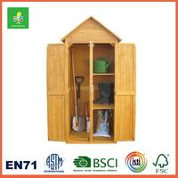 Custom Natural Handmade Garden Wooden Shed, High Quality Garden Sheds Storage