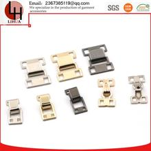 wholesale collarband metal plating garment pants hooks and eyes underwear buttons