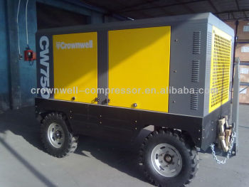 Manufacturer Crownwell Diesel Portable Air Compressor, 750cfm 950cfm 1200cfm