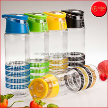104278 750ml Promotional Fashion Style Four Diamond Bars Rings Sport Tritan Fruit plastic Water Bottle