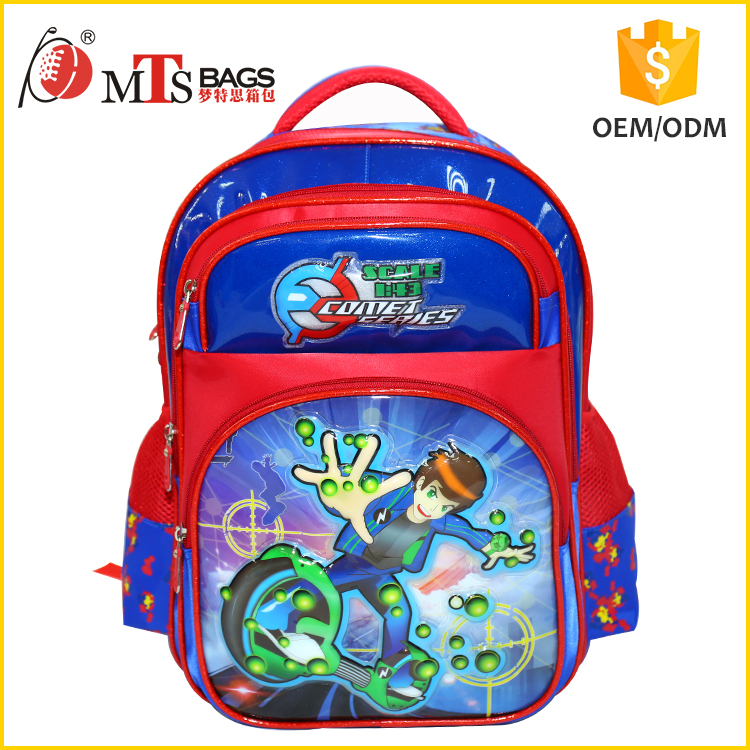 2017 Top quality gamimg boy pattern cartoon kids school bag new models sturdy baby backpack
