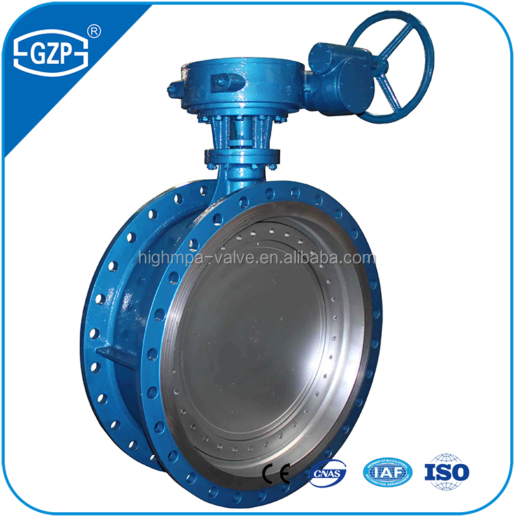 Telescopic pattern metal dn200 WCB sealing stainless steel butterfly valve price list