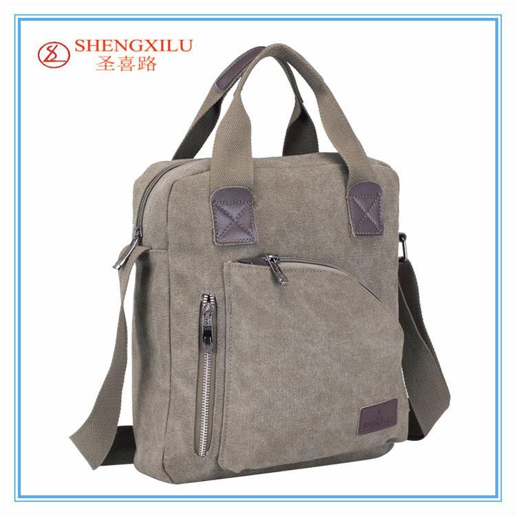 Casual Man Canvas Handbag Long Strap Shoulder Canvas Tote Bags ...