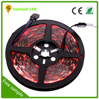 5050 warm white flexible smd led strip high lumen 12v rechargeable battery led strip power adapter