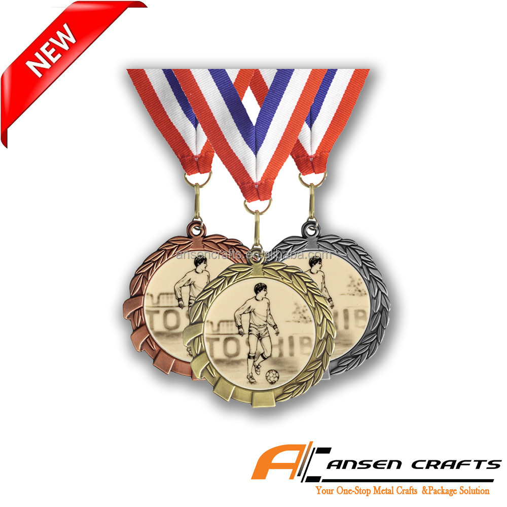 Cheap Custom Soccer Medal with Ribbons
