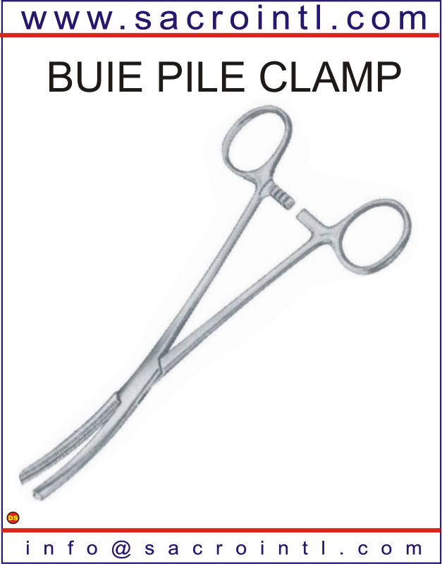 BUIE PILE CLAMP Surgical Instruments