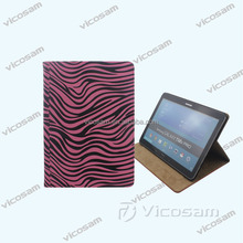 Wholesale good quality tablet covers for samsung tab pro 10.1, custom print tablet cover with leopard material