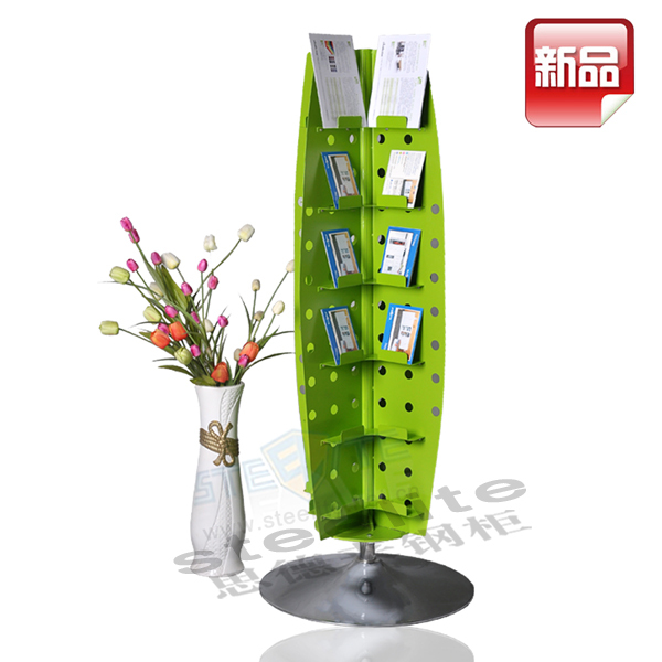 New arrival portable metal roating bookshelf tree shape for Tree of life bookshelf