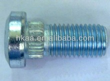 non-standard screw Guangdong manufacture cnc processing service zinc plated knurled shoulder bolt/ screw